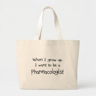 Quando eu me cresço acima queira ser um farmacolog bolsas de lona