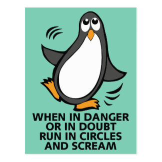 Quando no perigo ou no gráfico engraçado do cartão postal