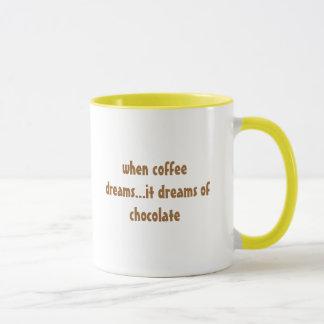 quando o café sonha… sonha do chocolate caneca