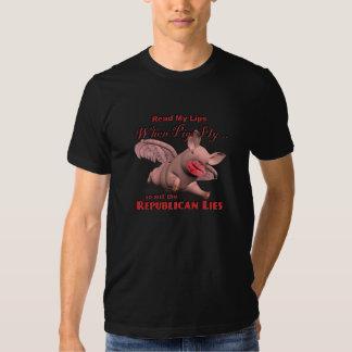 Quando os porcos voam… assim que as mentiras tshirts