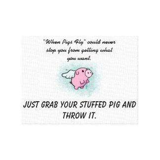 Quando os porcos voarem canvas