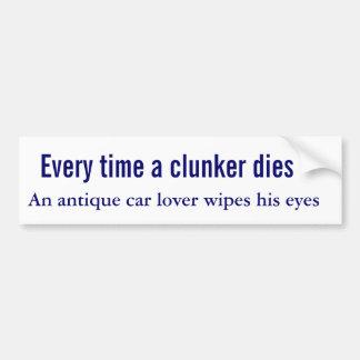 Quando um clunker morre um amante do carro antigo  adesivo para carro