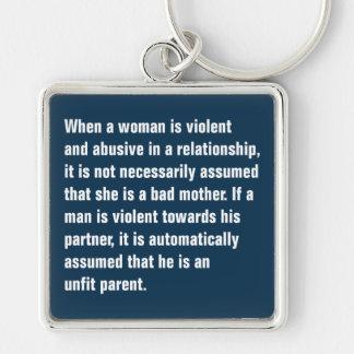 Quando uma mulher for violenta e abusiva… chaveiro