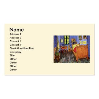 Quarto de Van Gogh Vincent em Arles, belas artes Cartão De Visita