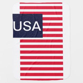 Quarto patriótico dos EUA América da cobertura do Mantas Para Bebe