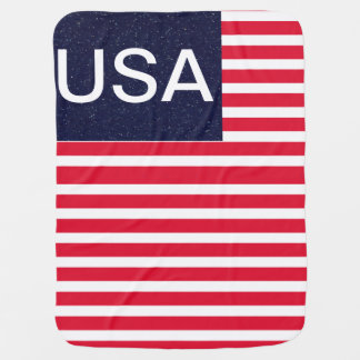 Quarto patriótico dos EUA América de coberturas do Cobertorzinho Para Bebe