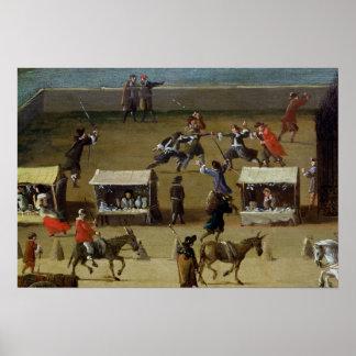 Quatre-Nações do DES do Louvre e da faculdade Poster
