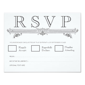 Quatrefoil preto & branco que Wedding cartões de Convites Personalizados