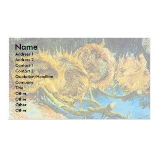 Quatro girassóis cortados por Vincent van Gogh Modelos Cartões De Visitas