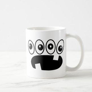 Quatro olhos caneca de café
