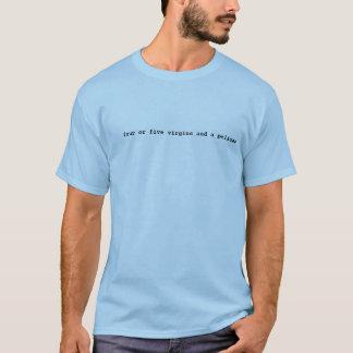 quatro ou cinco virgens e um pelicano camisetas