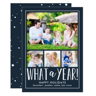 Que cartão com fotos EDITÁVEL do feriado da COR do Convite 12.7 X 17.78cm