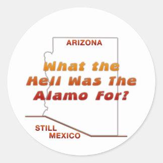 Que era o Alamo para? Adesivo Redondo