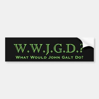 Que John Galt faria? Autocolante no vidro traseiro Adesivo Para Carro