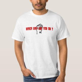 Que lado é você sobre? t-shirts