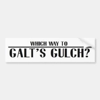 Que maneira ao Gulch de Galt? Adesivos