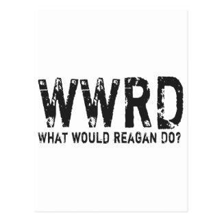 Que Reagan faria? Cartão Postal