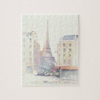 Quebra-cabeça Aguarela da torre Eiffel   Paris