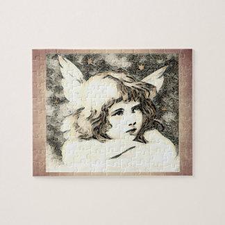 Quebra-cabeça Anjo do querubim do vintage