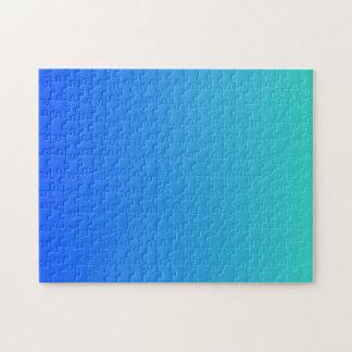 Quebra-cabeça Azul de turquesa Ombre
