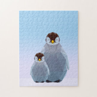Quebra-cabeça Baixa serra de vaivém poli bonito do pinguim