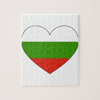 Quebra-cabeça Bandeira de Bulgária simples