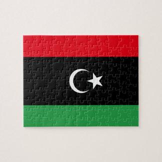 Quebra-cabeça Bandeira nacional do mundo de Líbia
