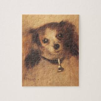 Quebra-cabeça Cabeça de um cão por Pierre Renoir, belas artes do
