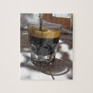 Quebra-cabeça Café do café com a casca do rum, do açúcar e de