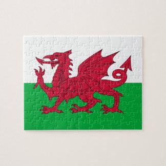 Quebra-cabeça com a bandeira de Wales