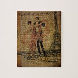 Quebra-cabeça dançarinos românticos do salão de baile da valsa