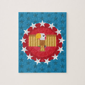 Quebra-cabeça de Eagle da liberdade (azul) -