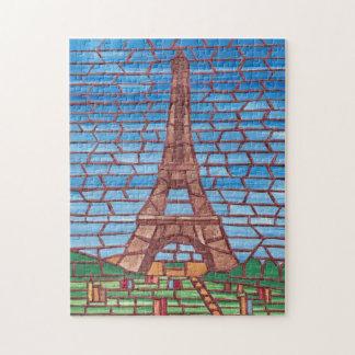 Quebra-cabeça de serra de vaivém da torre Eiffel