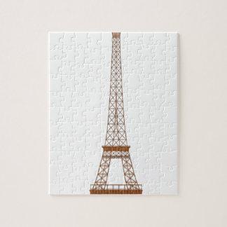 Quebra-cabeça Desenhos animados da torre Eiffel