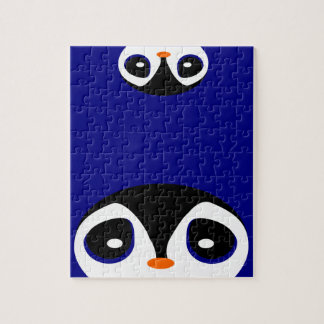 Quebra-cabeça Espreitando pinguins