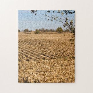 Quebra-cabeça Foto do panorama do campo de milho de Iowa