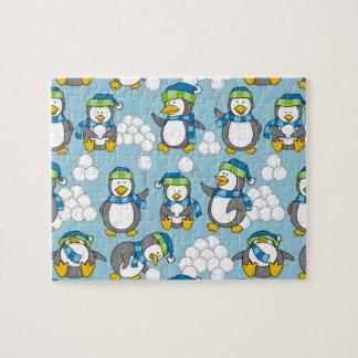 Quebra-cabeça Fundo pequeno dos pinguins