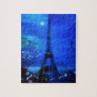 Quebra-cabeça Ilusão azul da torre Eiffel