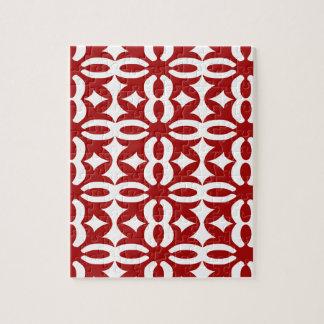 Quebra-cabeça Impressão vermelho laçado do Victorian