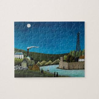 Quebra-cabeça La Seine um Suresnes por Henri Rousseau, arte do