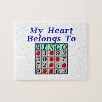 Quebra-cabeça Meu coração pertence ao Bingo