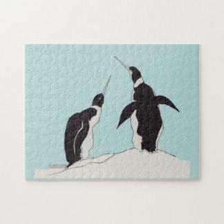 Quebra-cabeça pares de pinguins