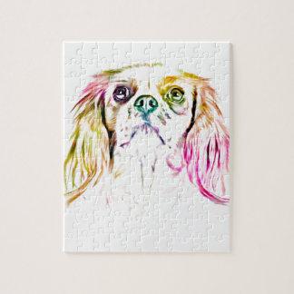 Quebra-cabeça Pintura descuidado da arte do cão do Spaniel de