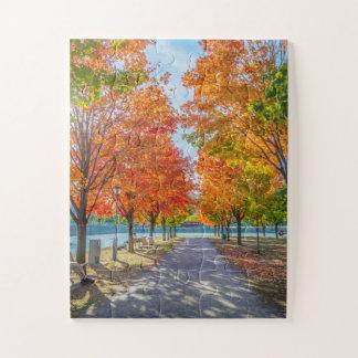 Quebra-cabeça Puzzle: Beautiful autumn landscape. Great Peça
