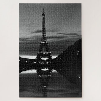 Quebra-cabeça Reflexão da torre Eiffel de France Paris do