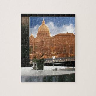 Quebra-cabeça Sala com um livin urbano da fotografia decorativa
