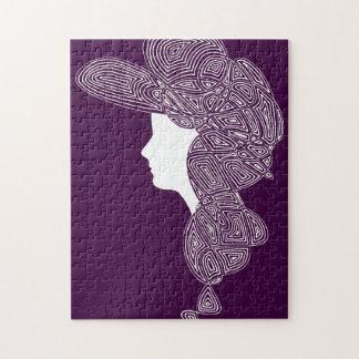 Quebra-cabeça Senhora (cor feita sob encomenda)
