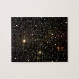 Quebra-cabeça Star a luz, exposição do espaço, túnel leve da