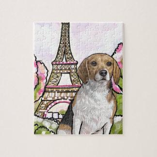 Quebra-cabeça torre Eiffel Paris do lebreiro