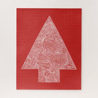 Quebra-cabeça Vermelho da árvore de Natal